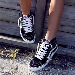 Vans Shoes - Black high top vans